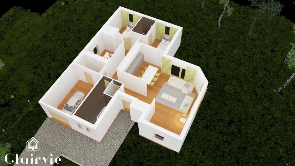 Lenae maison moderne en l for Obtenir un plan de maison